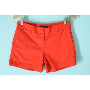 J Crew Size 4 Dark Orange Chino Shorts